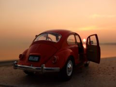 Little Red Car and Sunset