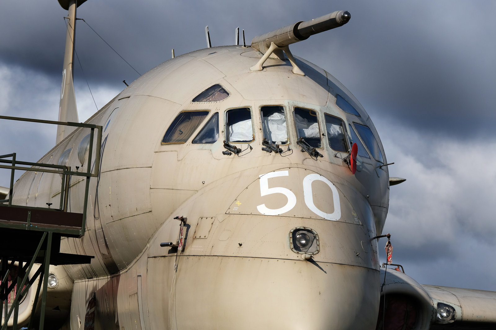 Nimrod maritime patrol and early warning aircraft.